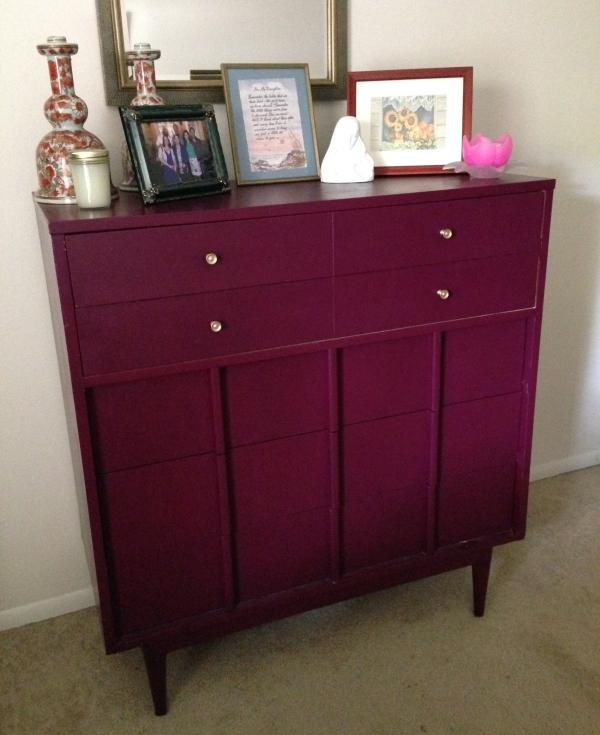 purple dresser