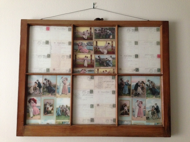 vintage 1920's framed postcards