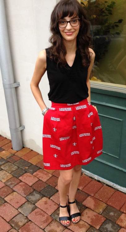 ULL Collegiate Skirt, www.erinsnotions.com