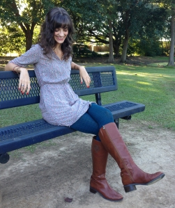 riding boots with tights for fall
