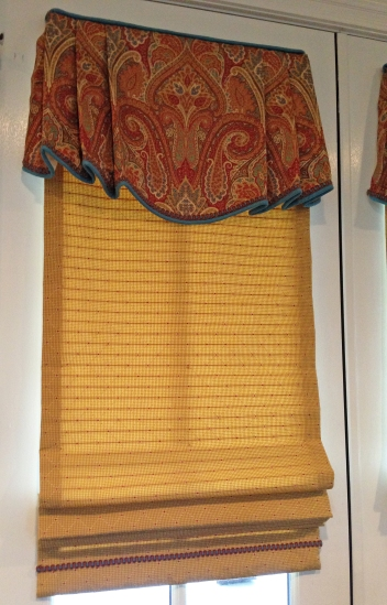 roman shade design with different fabrics