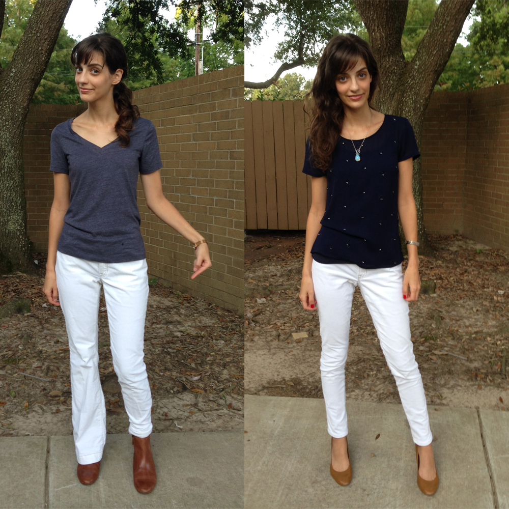 DIY: bootcut to pencil pant