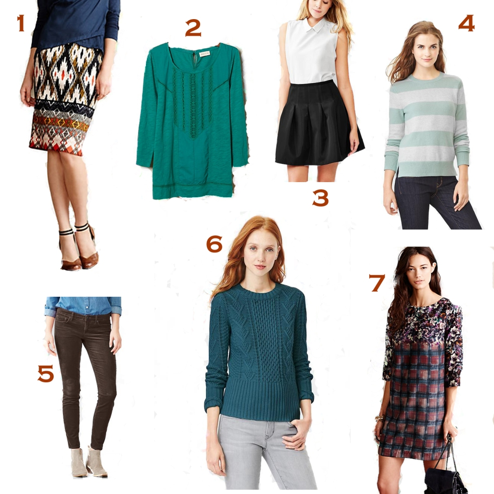 my favorite winter sale pictures from GAP and anthropologie