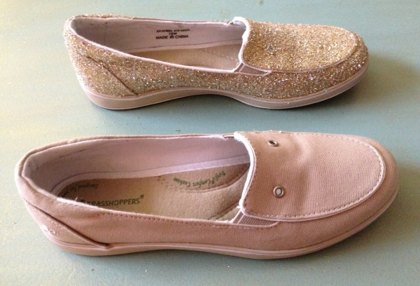 DIY: sparkle shoes