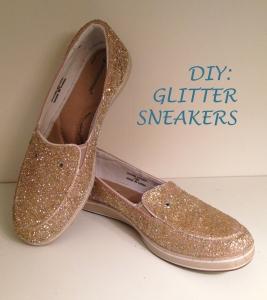 DIY: sparkle sneakers