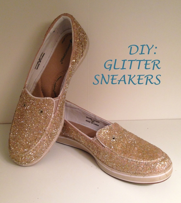 DIY: sparkle sneakers