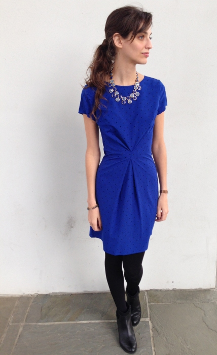 Dress Refashion with a center pleat tuck