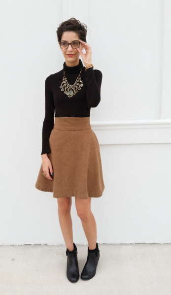 original design twirly wool skirt