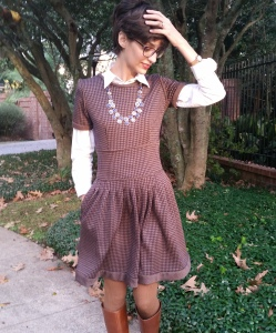 winter dress with pockets