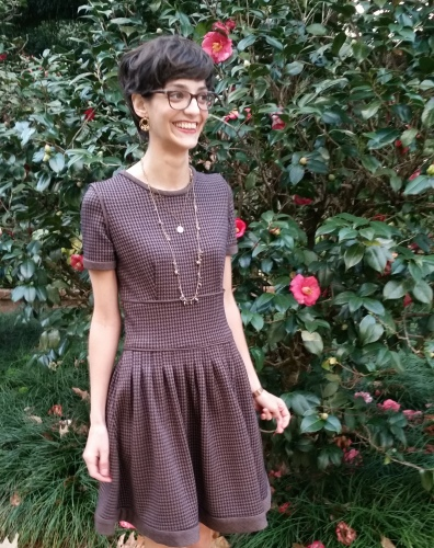 knit dress for the winter with pockets