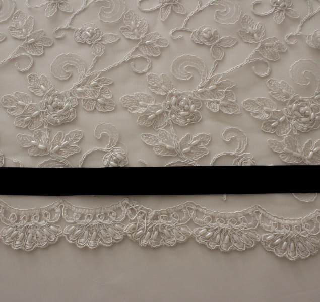 Fabric, Lace, and Velvet Ribbon for wedding dress