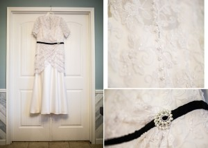 Custom lace wedding dress