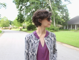 pattern mixing jacket and shirt