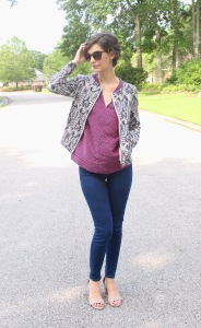 spring time jacket and pattern mixing