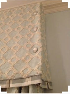 Covered Button Detailing on Valance
