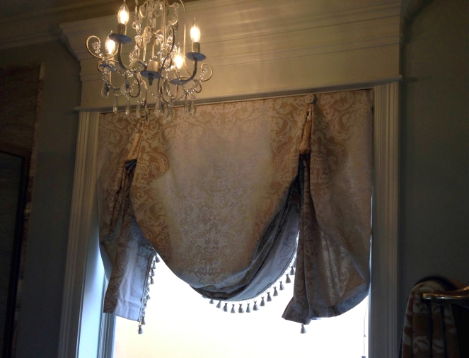 London shade with trim and tassels