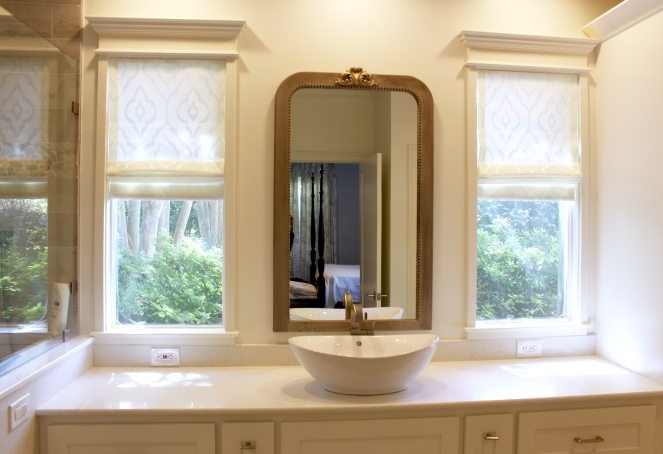 Roman Shade for Master Bathroom