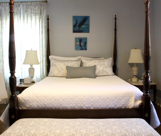 Drapery Panels and custom bedding for master bedroom